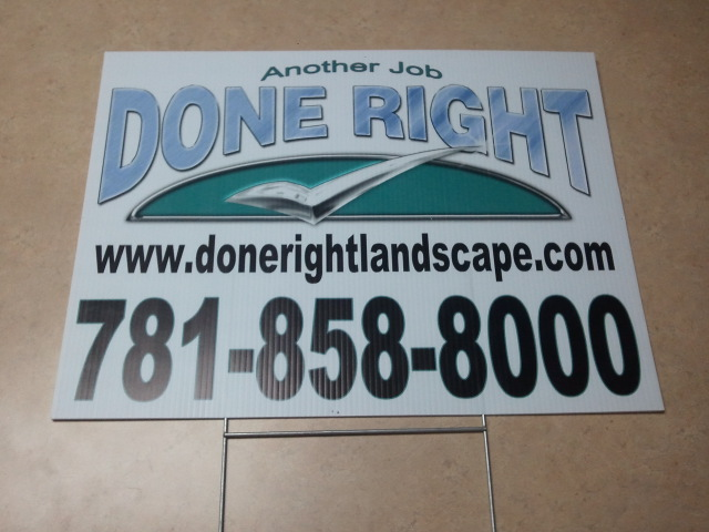 central printing lawn sign corrugated sign